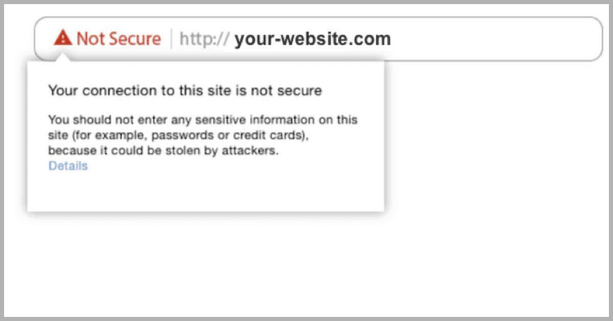 Image of Web Page without SSL